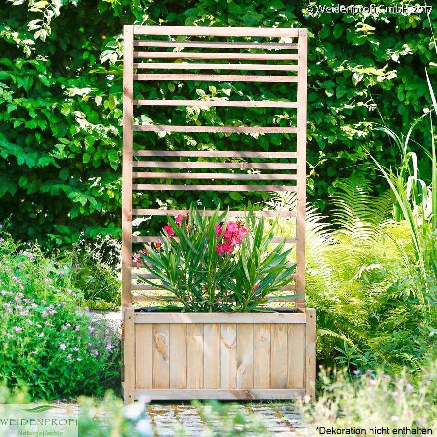 blumenkasten pflanzkasten pflanzk sten mit rankgitter holz blumenkasten spalier ebay. Black Bedroom Furniture Sets. Home Design Ideas