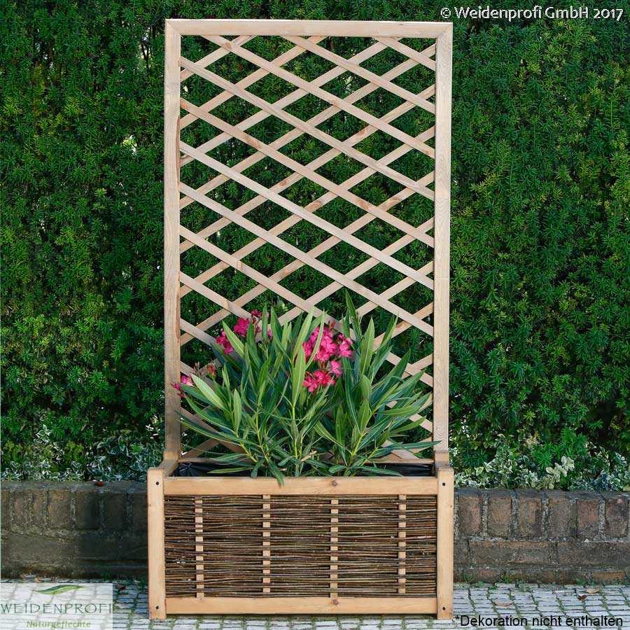 blumenkasten pflanzkasten pflanzk sten mit rankgitter. Black Bedroom Furniture Sets. Home Design Ideas