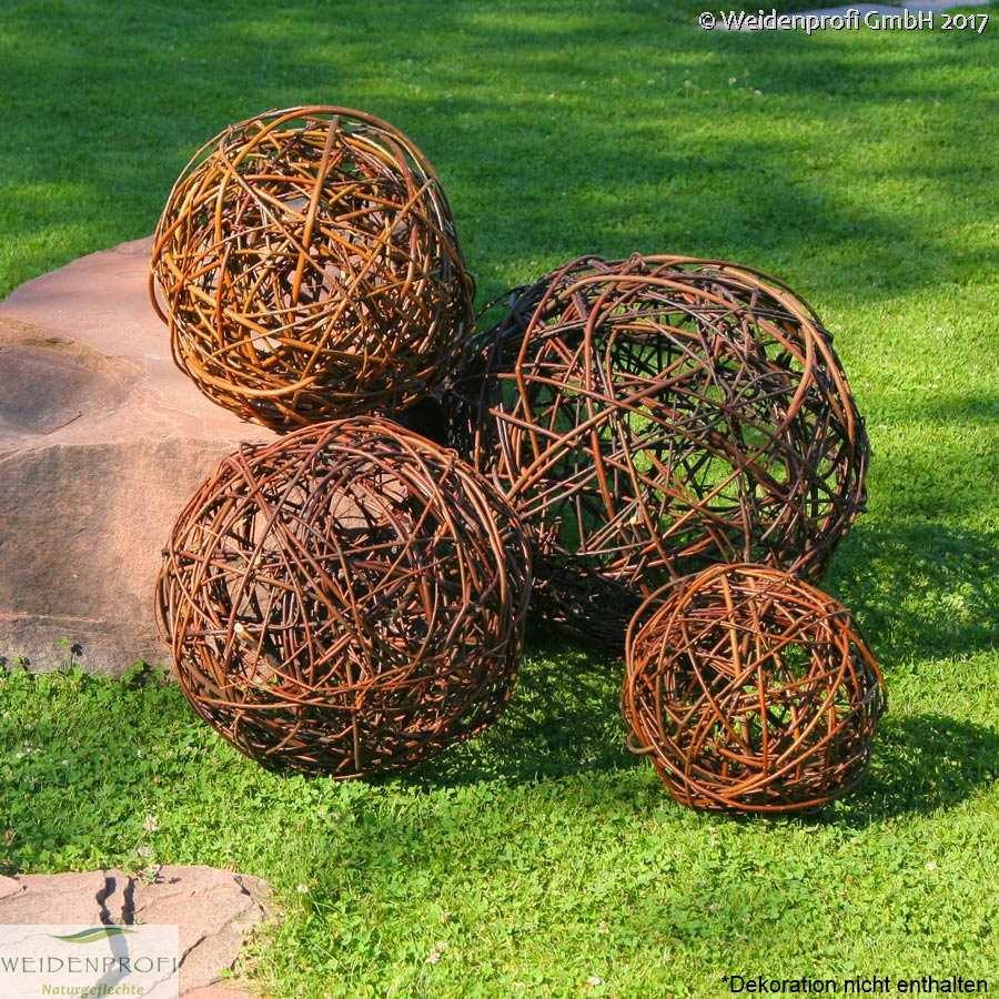 Gartendeko weidenkugeln oder weidenb schel dekoration weidengeflecht b ware ebay - Gartendeko aus weidengeflecht ...