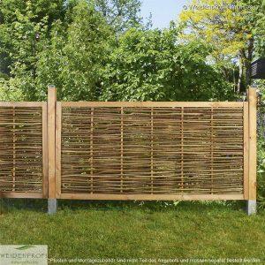 Gartenzaun Haselnusszaun mit umlaufenden Rahmen