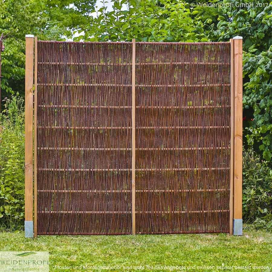 b ware weidenzaun sichtschutz lato solid 120 x 200 cm. Black Bedroom Furniture Sets. Home Design Ideas