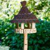 vogelhaus birke mit reisigdach