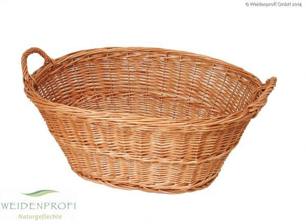 Wäschekorb aus geschälter Weide
