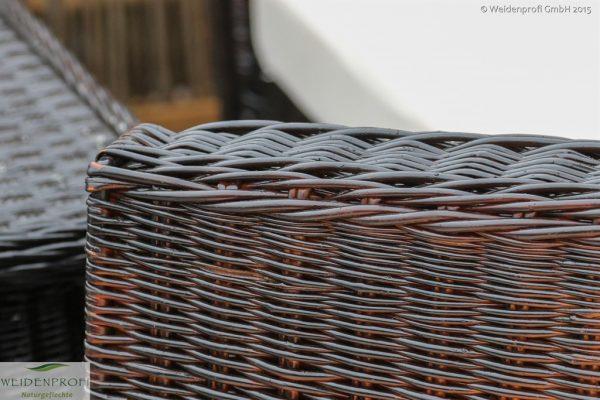 Weidenmöbel MODERNO, Lounge-Sitzgruppe, Detail