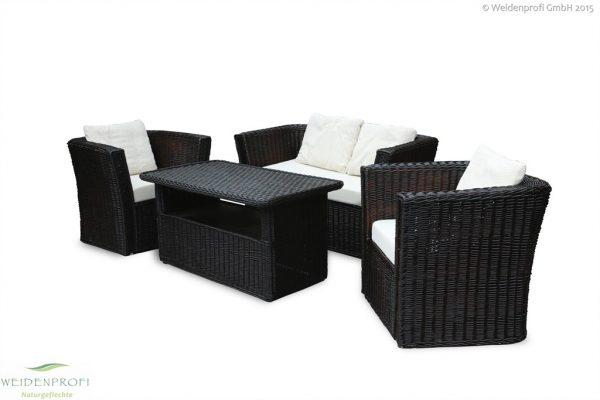Weidenmöbel MODERNO, Lounge-Sitzgruppe, Gartenmöbel