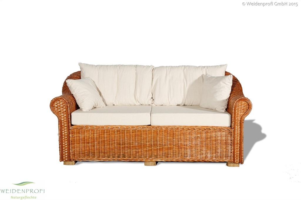 Weidenmöbel Couch 3-Sitzer
