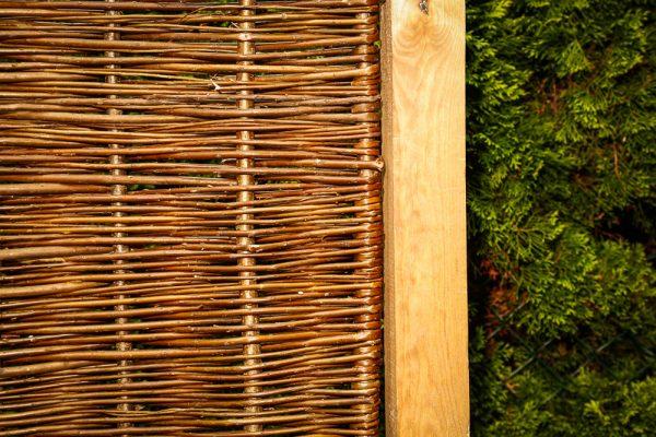 Weidenzaun BALDO Natur, seidenmatt 180 x 150 cm