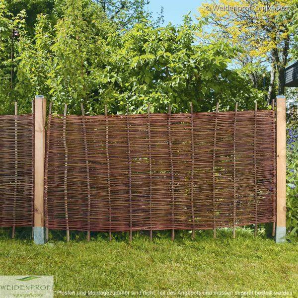 Weidenzaun Gartenzaun ohne Rahmen