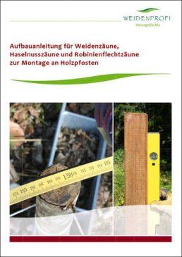 Aufbauanleitung Flechtzaun