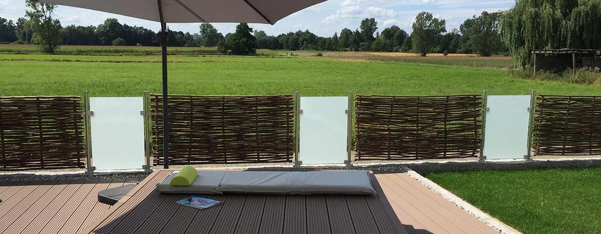 Sichtschutz Terrasse Haselnuss Universal