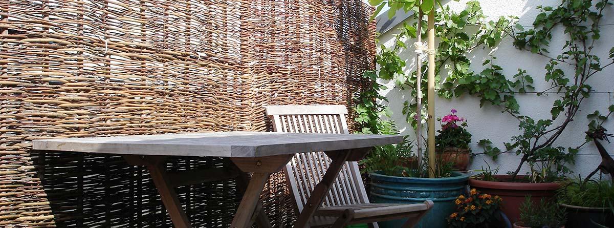 Sichtschutz Balkon Terrasse Weide