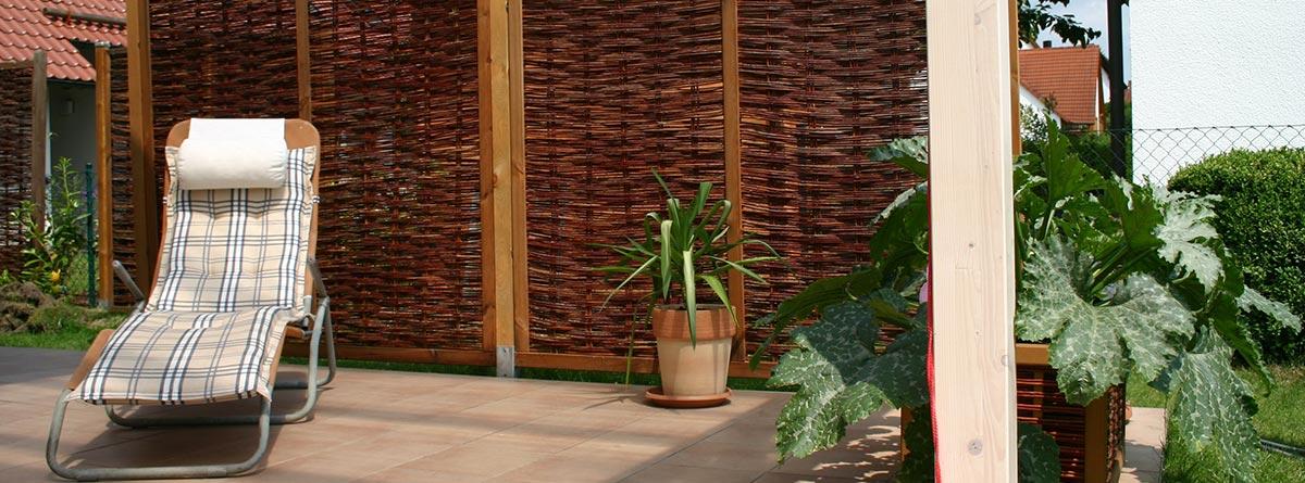 Sichtschutz Terrasse Weide Elegant