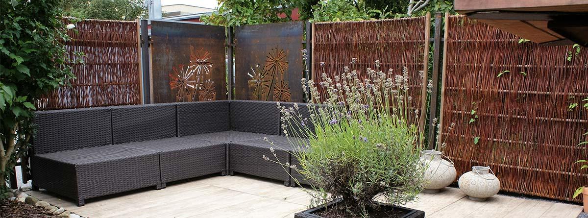 Sichtschutz Terrasse Garten Weide
