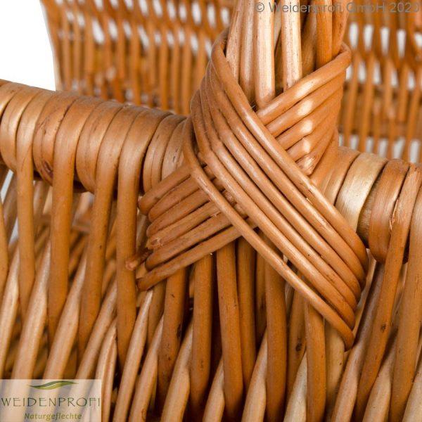 Holzkorb Weide geschält detail