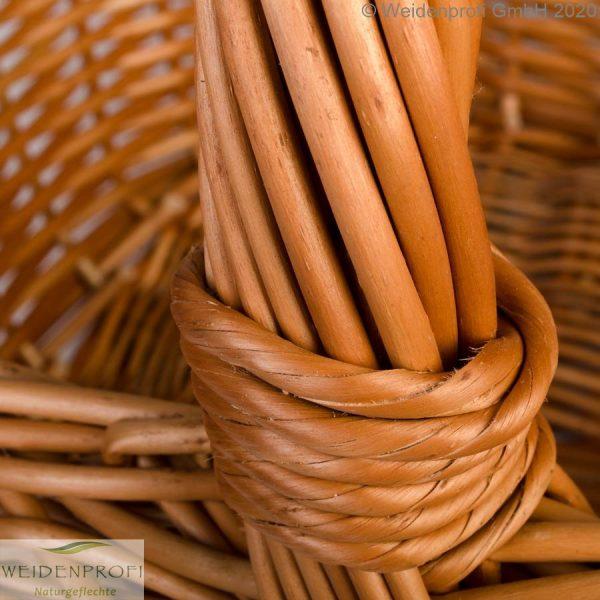 Holzkorb, Einkaufskorb Weide mit Henkel