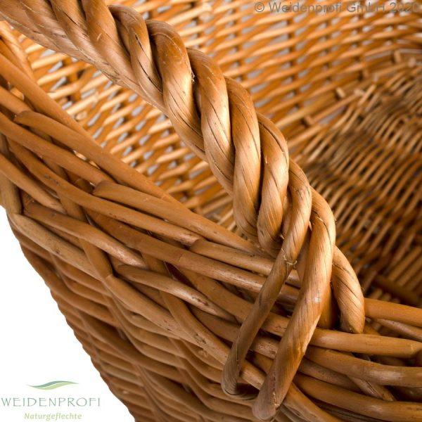 weidenkorb, Holzkorb Detail Griff
